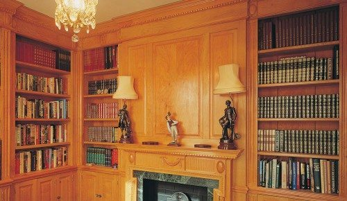 Traditional wood panelling