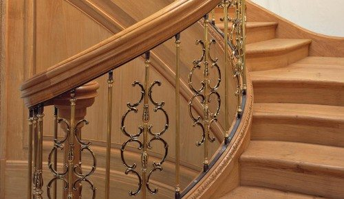 traditional sweeping staircase
